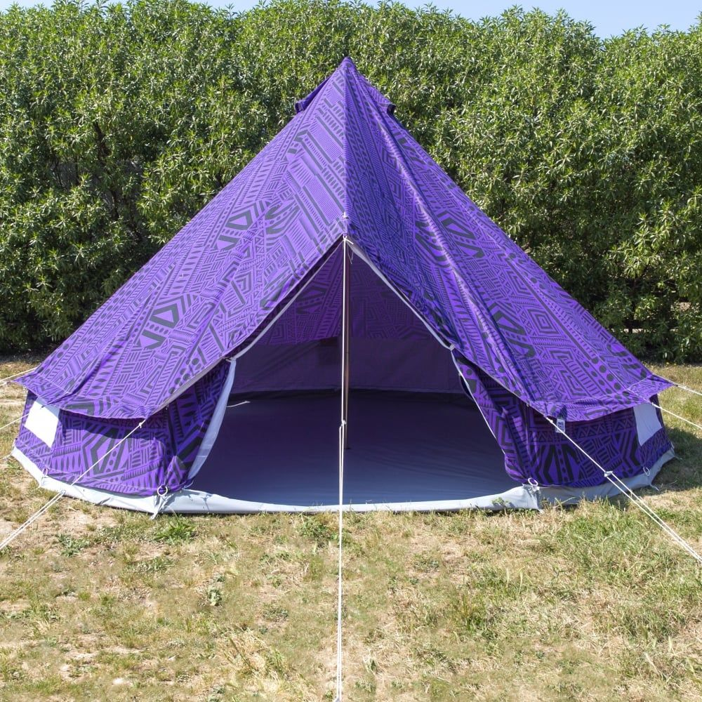 5m Purple Rain Bell Tent With Zipped in Ground Sheet & 5m Purple Rain Bell Tent With Zipped in Ground Sheet | Home ...
