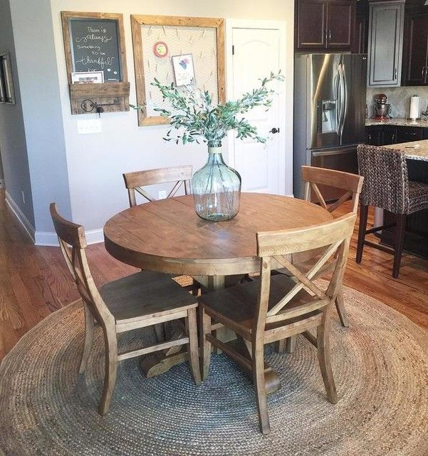 Round Area Rug For Under Kitchen Table