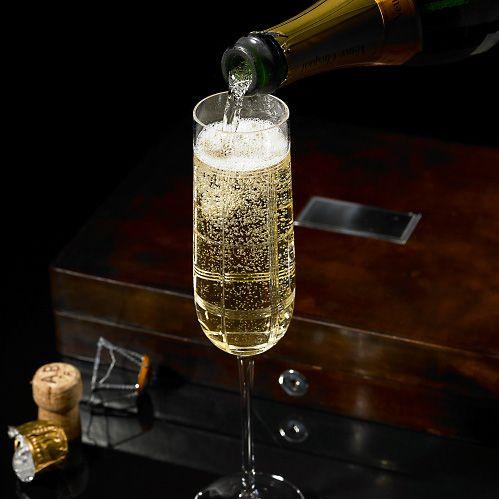 Ralph Lauren champagne flutes| Champagne Room