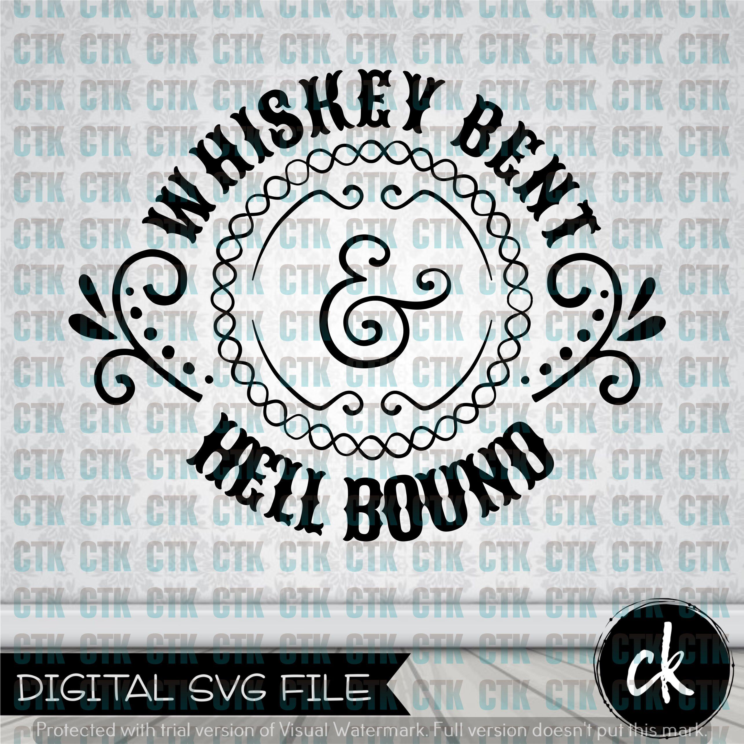 whiskey bent | Svg downloads | Svg files for cricut, Cutting