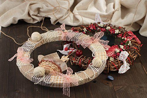 Beautiful Small Handmade Designer Door Wreaths Set 2 Pieces Home Decor * This is an Amazon Affiliate link. Want to know more, click on the image.