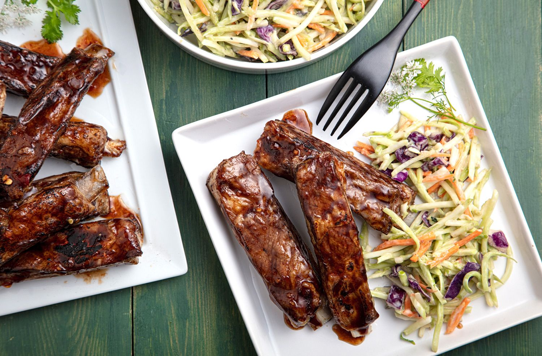 Photo of Singapore Lamb Riblets Recipe with Asian Slaw – California Lamb