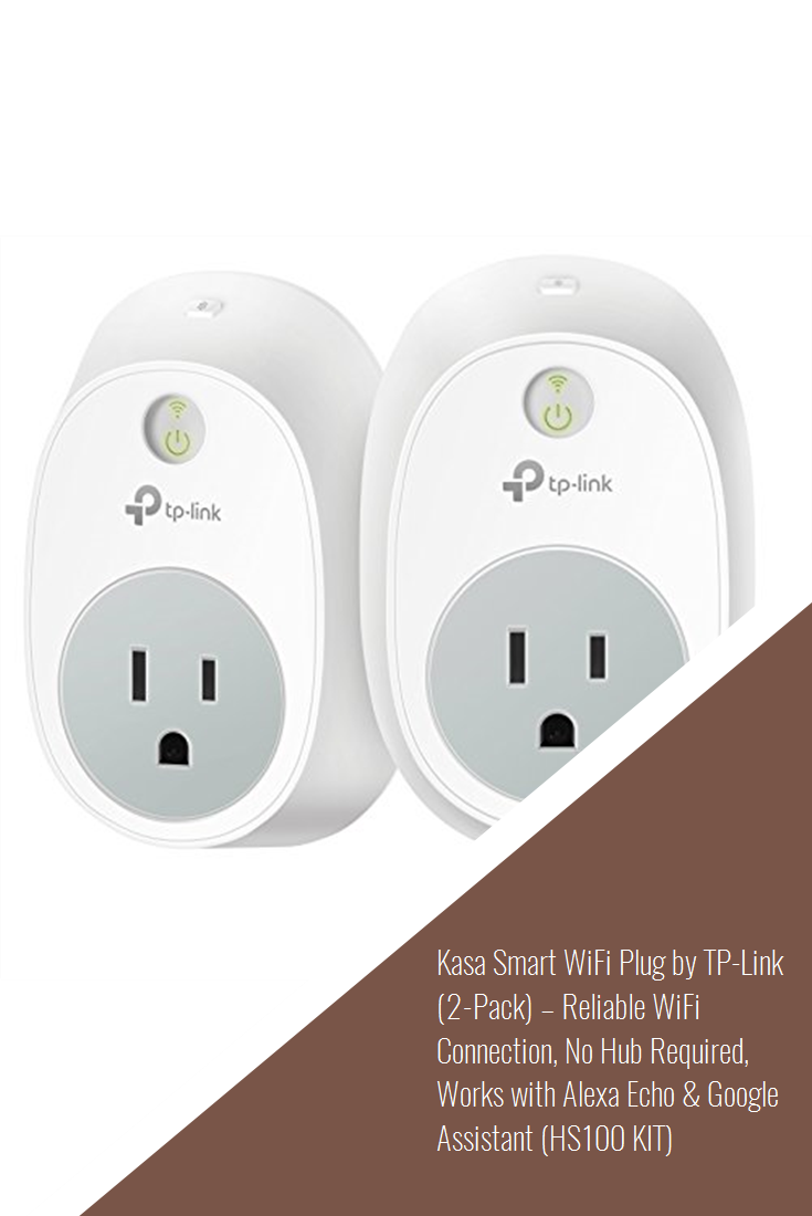 Kasa Smart WiFi Plug by TP-Link (2-Pack) – Reliable WiFi