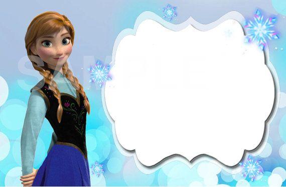 Disney Frozen Editable Label Frozen Para Imprimir Invitaciones