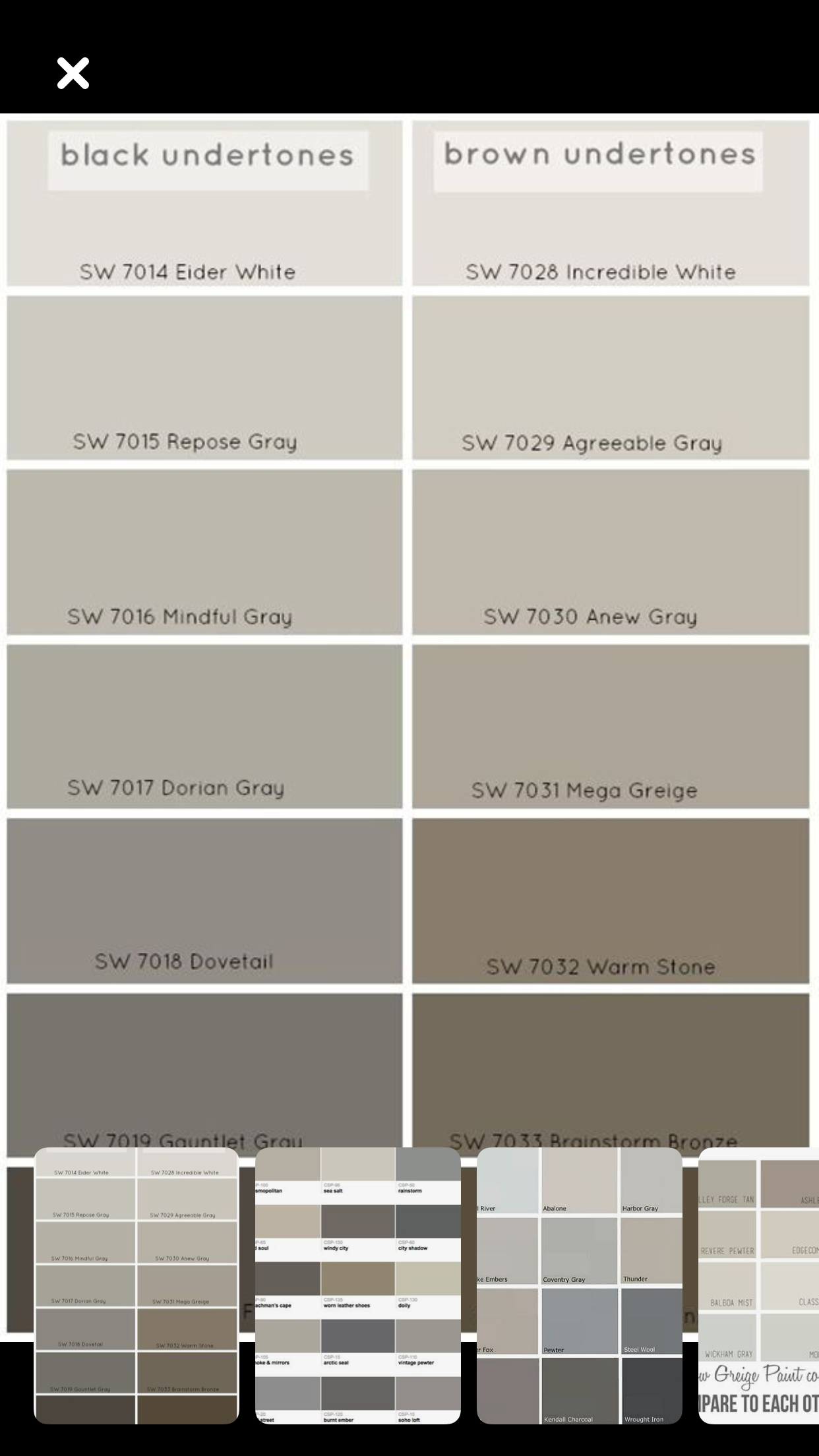 Agreeable Gray Agreeable Gray Anew Gray Mindful Gray