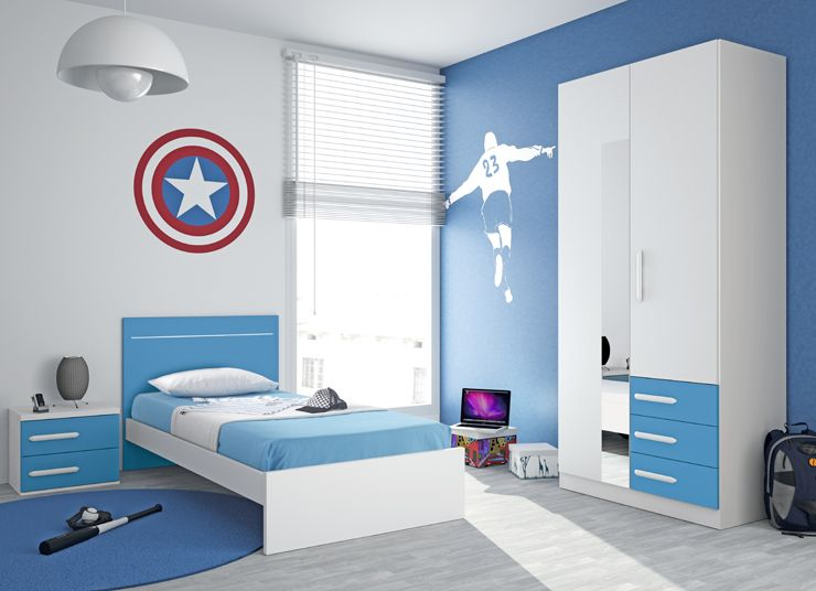 Dormitorio juvenil decoracion de habitacion adolescentes - Color de pintura para habitacion ...