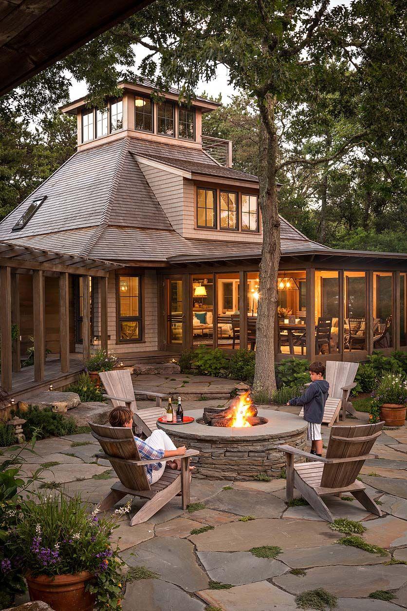 Woodland retreat on Martha s Vineyard with ultimate indoor outdoor living