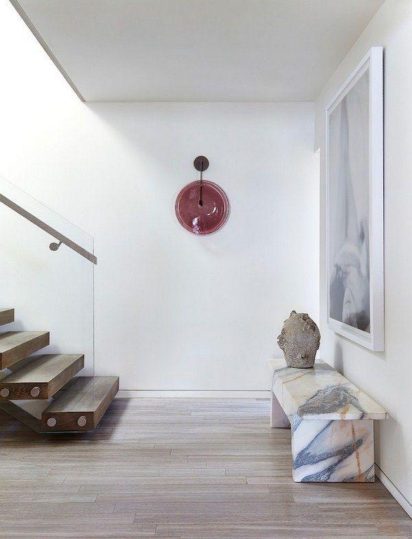 Groundwood optics modern marble Andre light glass railing