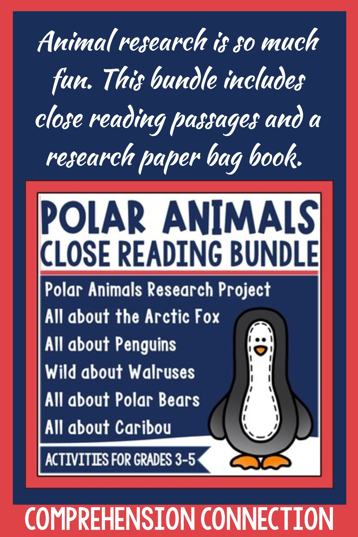 Polar Animal Close Reading Bundle