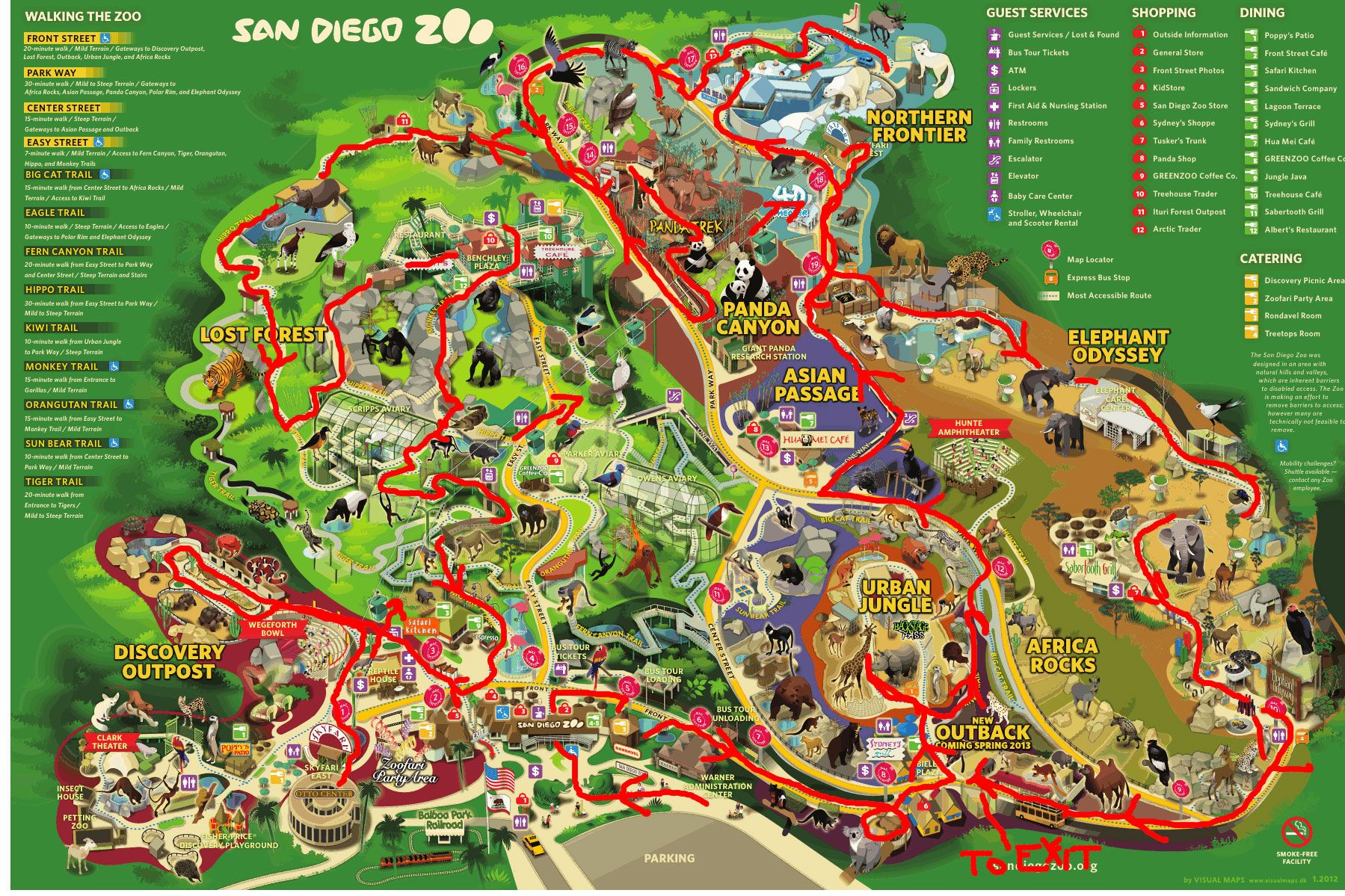San Diego Zoo Map San Diego Zoo California USA Pinterest San