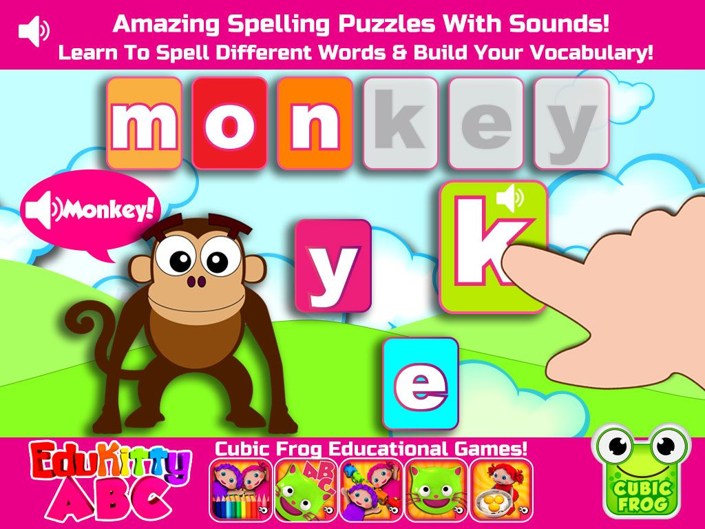 Pin by Cubic Frog® Apps on EduKitty ABC App Abc games