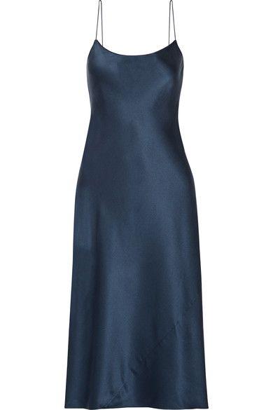 Telson Silk-satin Dress - Navy Theory LdyuTDdsY