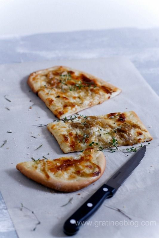 France's take on pizza. The delectable tarte flambee