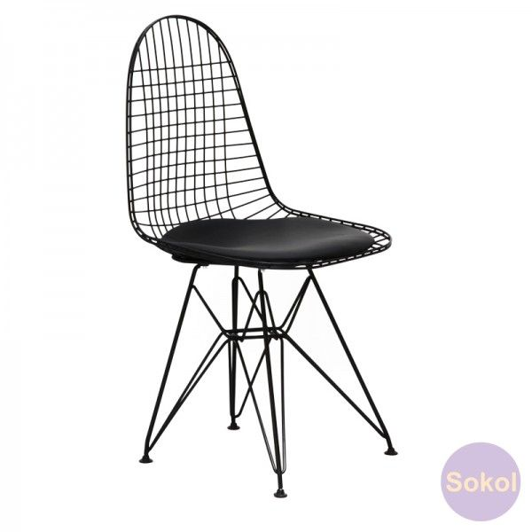 Replica Eames Wire Chair   Black Frame | Dining Chairs | Sokol