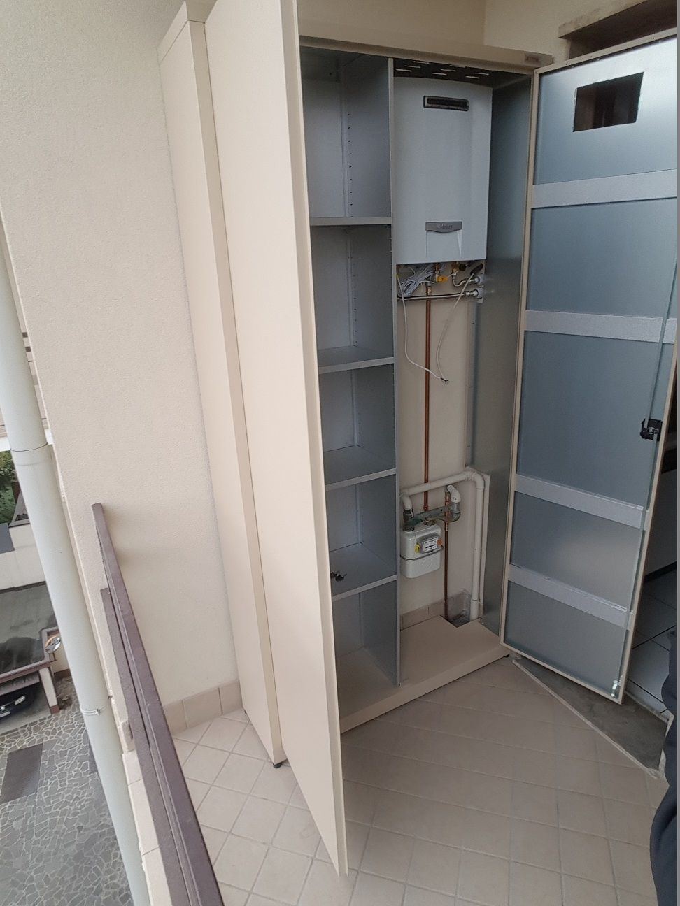 Mobile Da Esterno Per Lavatrice copri caldaia / contatore (con immagini) | armadio esterno