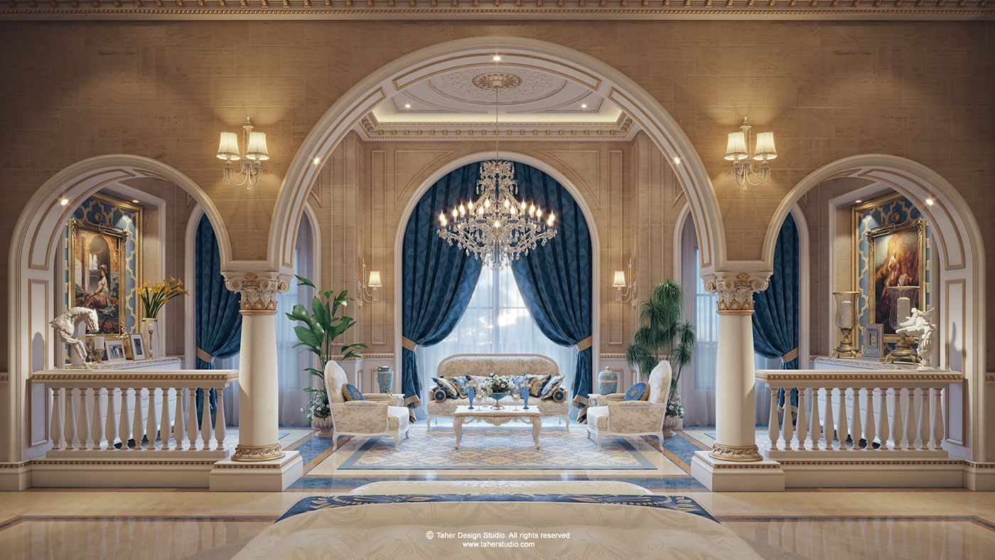 Some Spaces Of Our Interior Design For Luxury Mansion Located In Doha Qatar