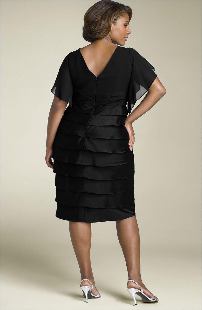Adrianna Papell Flutter Sleeve Tiered Dress (Plus)  1d0fac6f6cd5