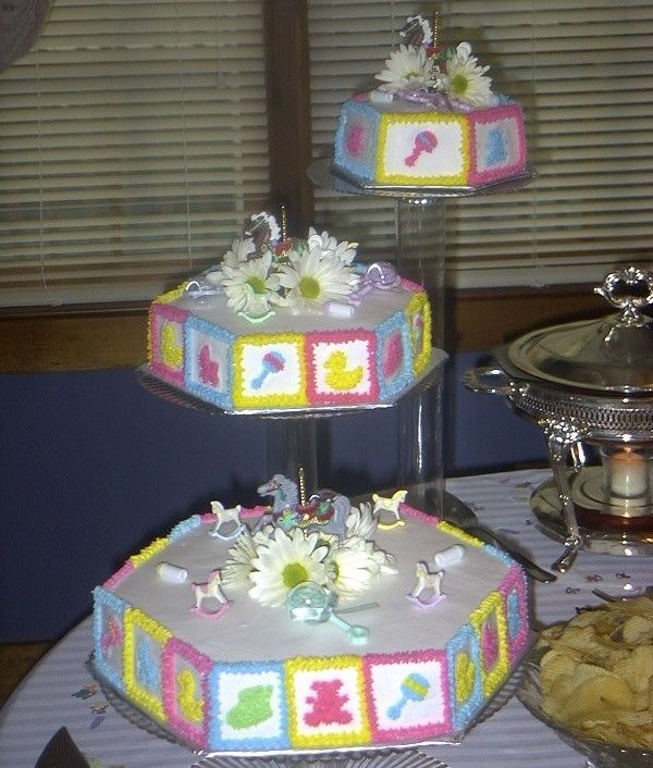 Walmart Baby Shower Cakes Tiered Baby Shower Cake With Real