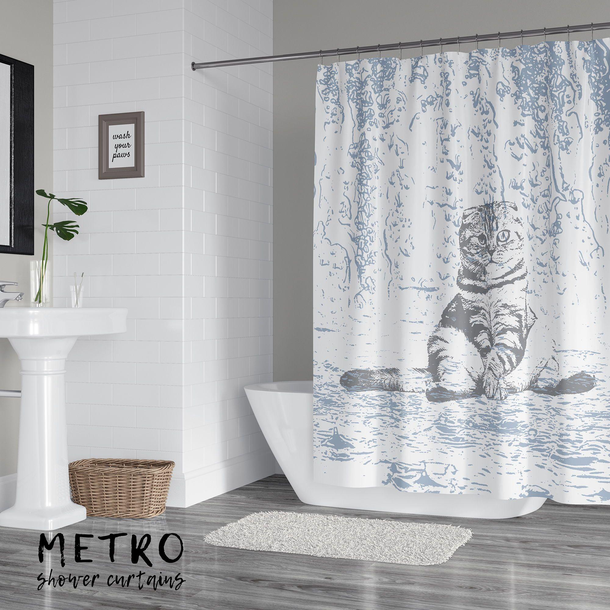 Grumpy Wet Cat Shower Curtain Green Shower Curtains Cat Shower Curtain Bathroom Shower Curtains