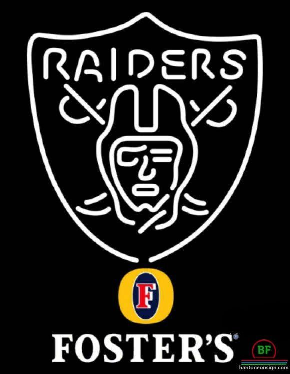 cacf9fc8 Fosters Oakland Raiders Neon Sign NFL Teams Neon Light | maggie ...