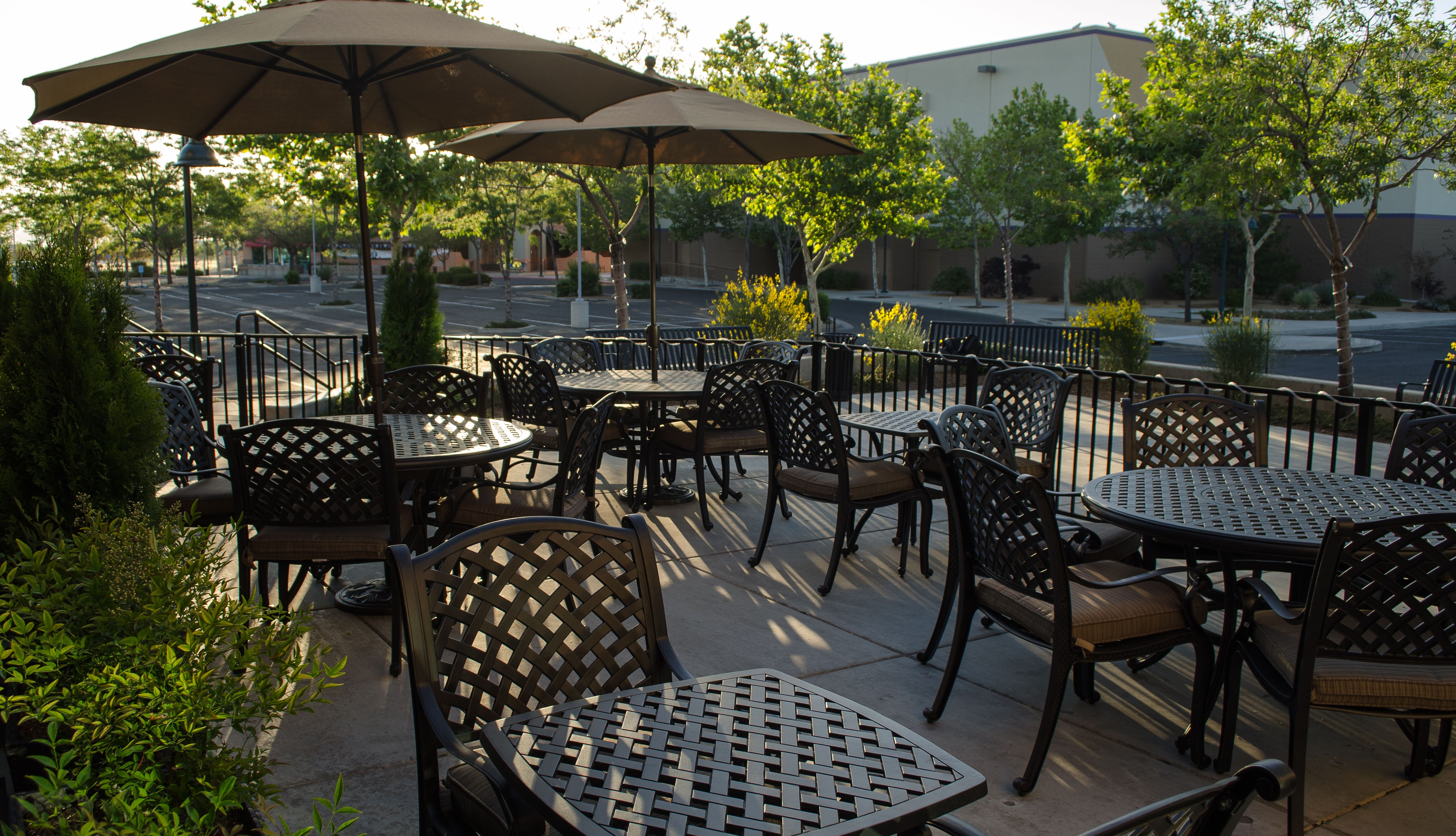 Patio at Cork and Cuisine. Up to 28 seating. Located in ...