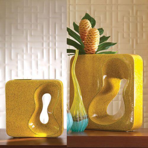 Square Amoeba Large Yellow Vase Pinterest Yellow Vase And Products