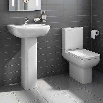 Amazing Short Projection Close Coupled Toilet U0026 Pedestal Basin Set £179.99    Bathroom Suites   4