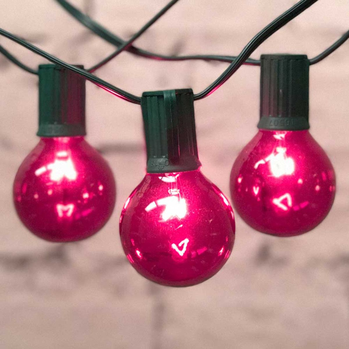 Pink String Lights 25 Green C9 Cord G50 Bulbs Partylights Globe Lights Patio String Lights String Lights Party