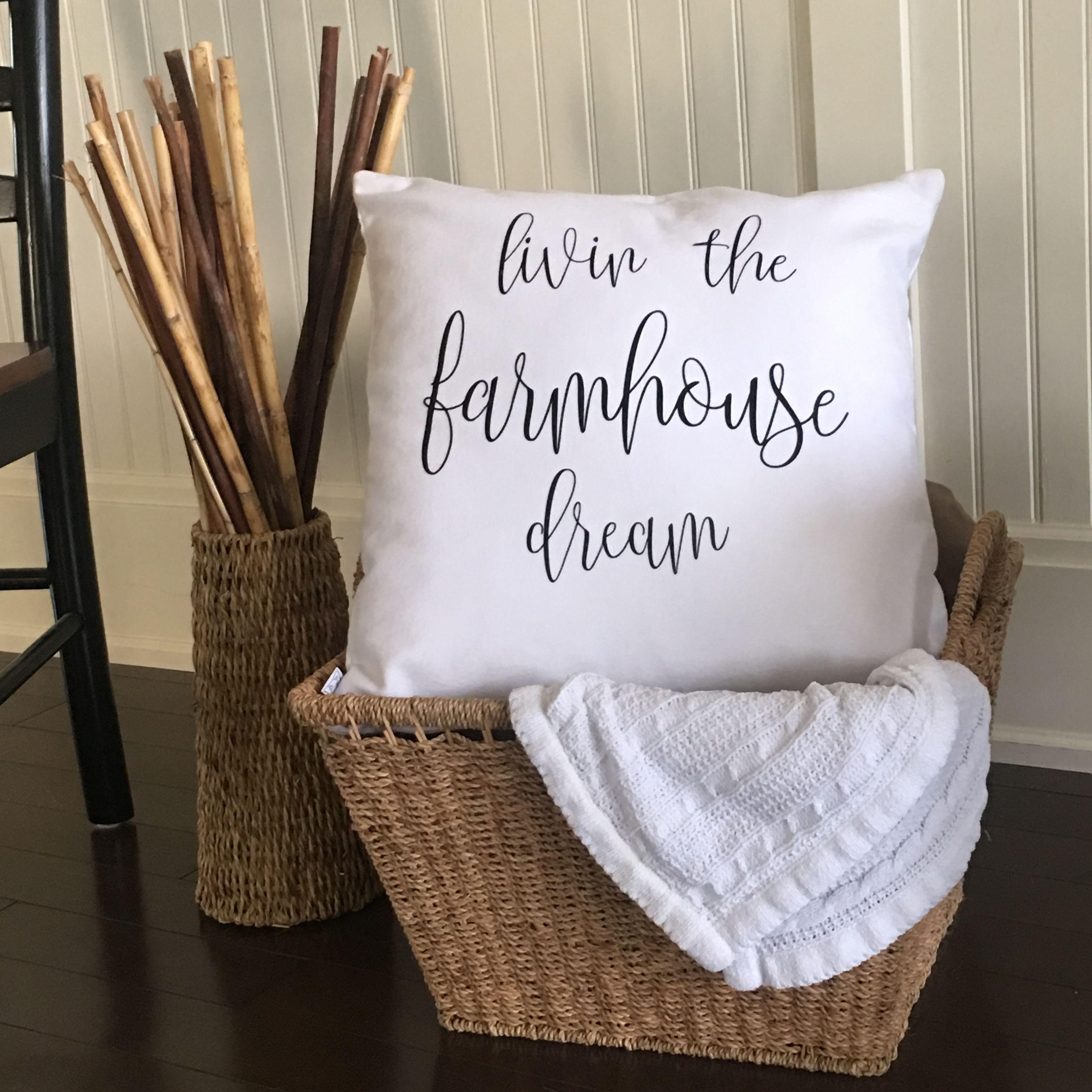 Farmhouse dream throw pillow cover throw pillows