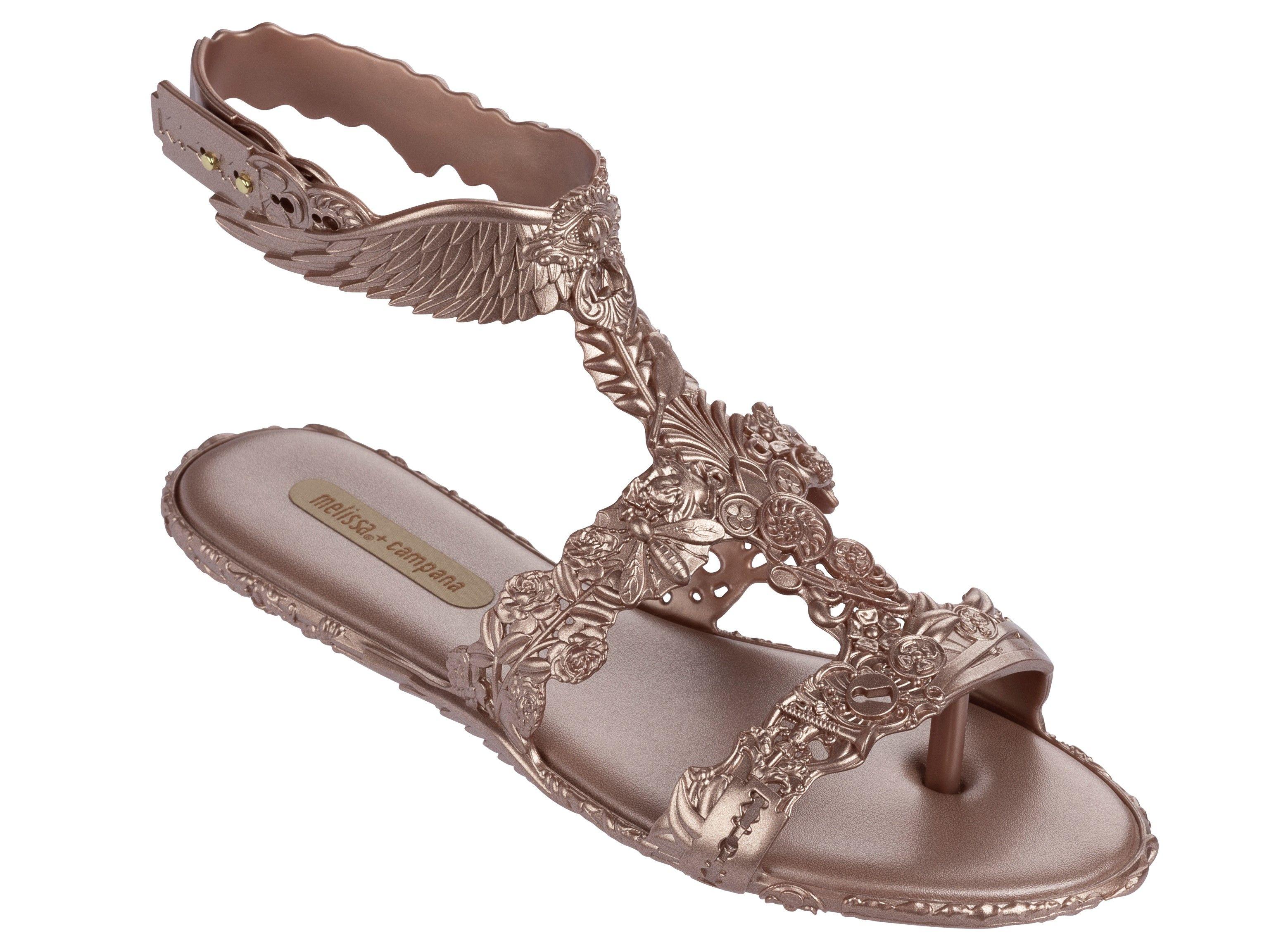 1a34ba507125 Melissa ružové sandále Campana Barroca Sandal Pink Metal - Dámske Topánky    Differenta.sk