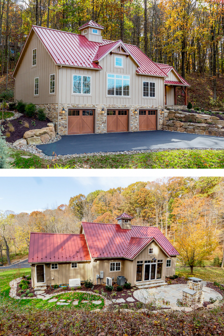 The Downing Small Barn Home Is A Perfect Floor Plan For Those Wanting To Downsize Without Feeling Cramped Small Barn Home Carriage House Plans Barn House Plans