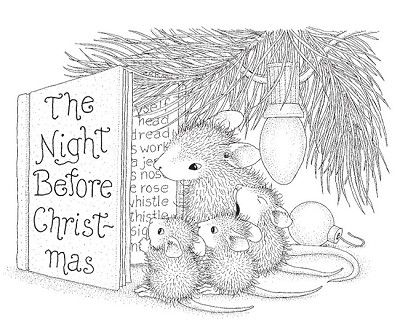 Stampendous - Cling Mounted Rubber Stamp - House Mouse Christmas - new coloring pages for christmas story