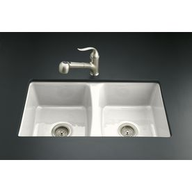 Kohler Deerfield Double Basin Undermount Enameled Cast Iron