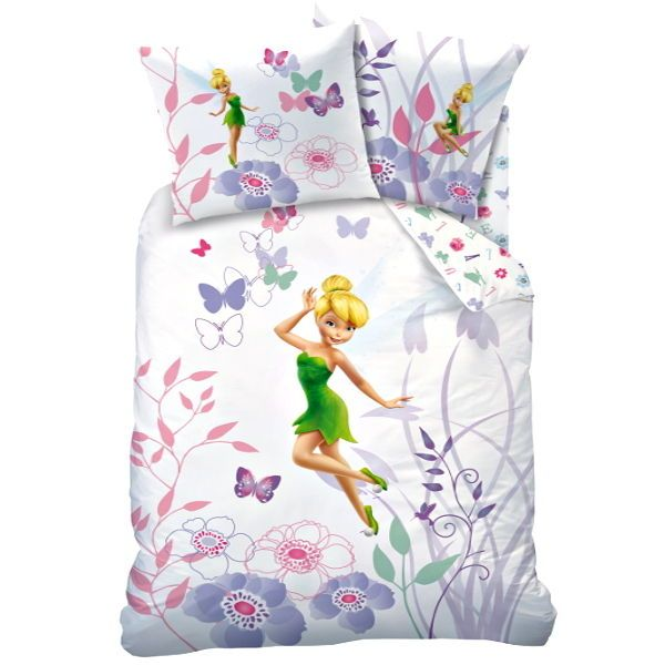 Disney Tinkerbell Fairy Reversible Bedding 100 Cotton Duvet Cover