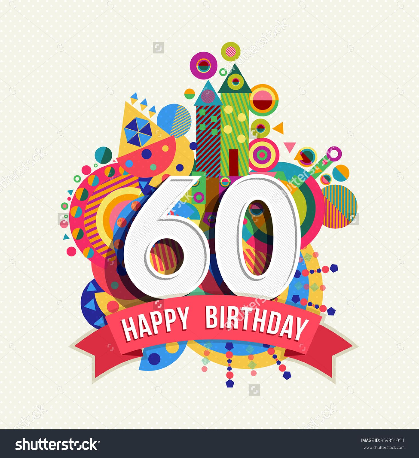 stock vector happy birthday sixty year fun celebration greeting