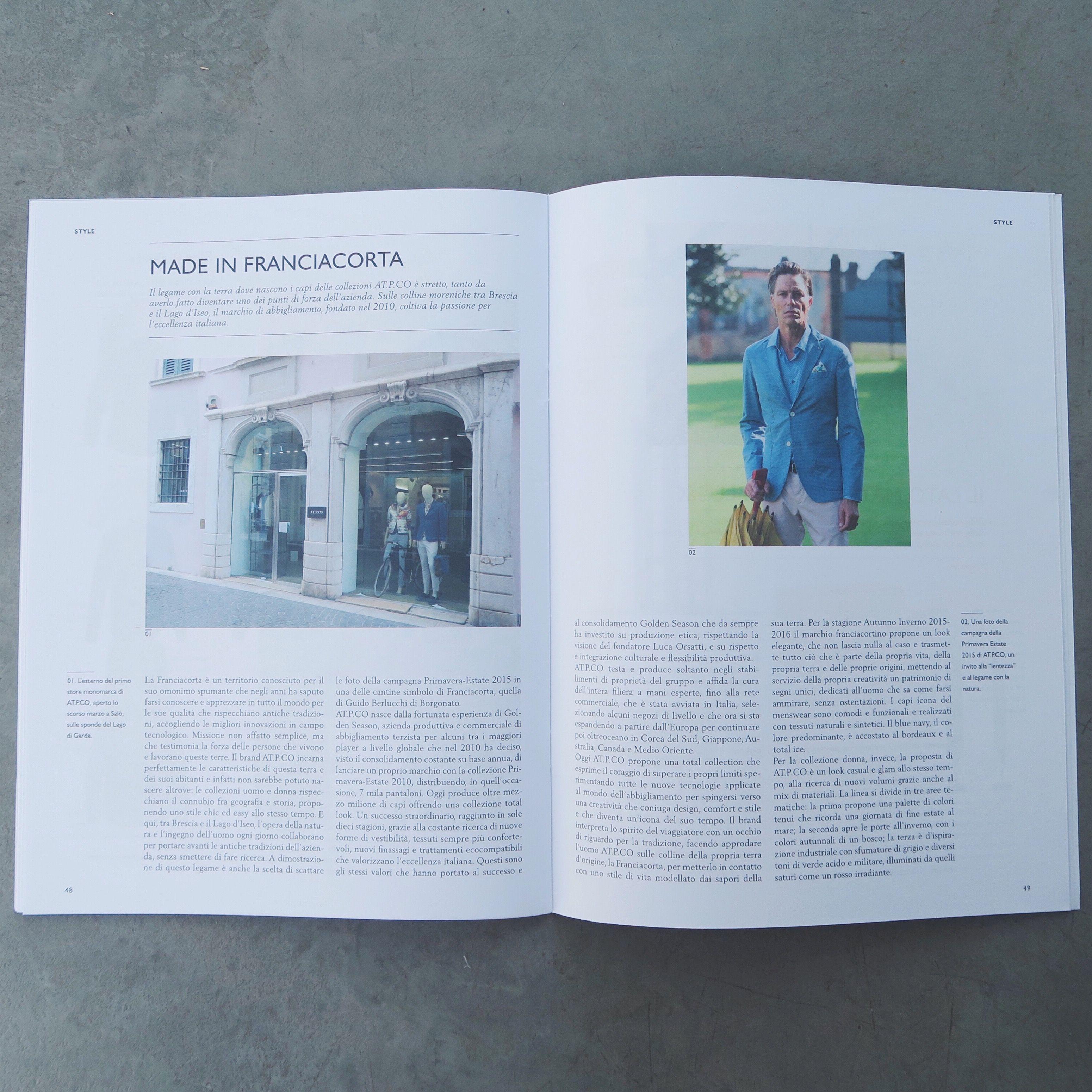 """ATPCO """"Made in #Franciacorta"""" - sull'ultimo numero del magazine Club Milano l'articolo dedicato ad #ATPCO.  ATPCO """"Made in Franciacorta"""" - available on Club Milano #magazine the article about #ATPCO."""