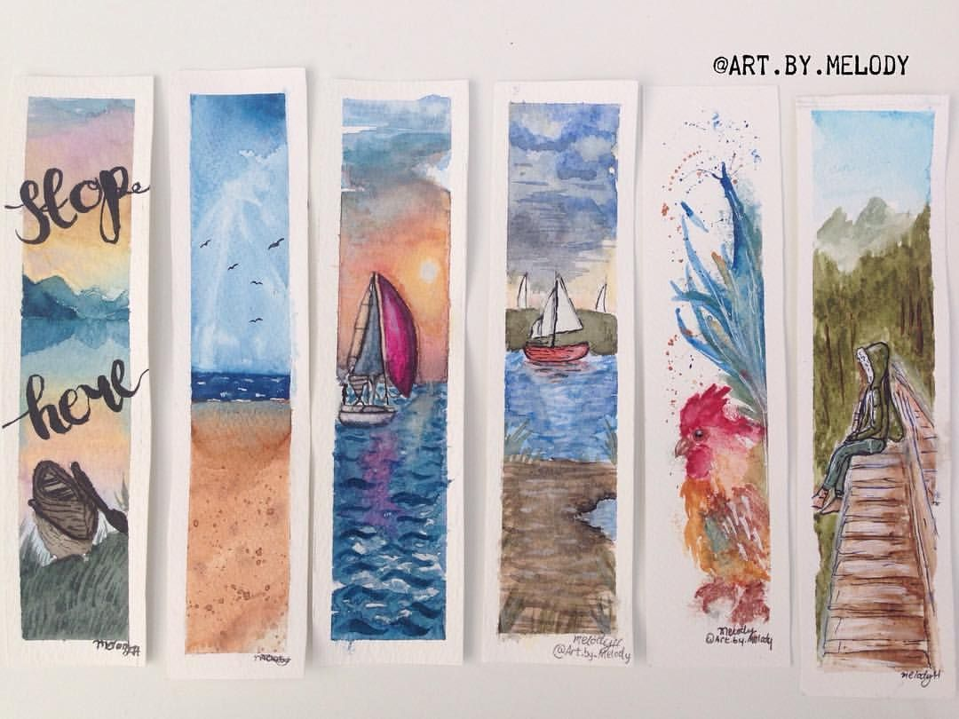Watercolour Bookmarks For Sale Anywhere Inside Eu By Art By