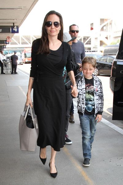 Angelina Jolie and family are seen at LAX.