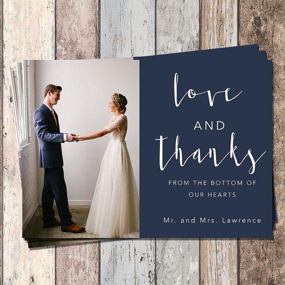 Wedding Thank You Card-Wedding-Bridal-Thank You Card-PIY-Printable ...
