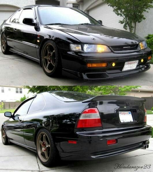 Cd7 Love Those Fogs And The Grill Honda Accord Coupe Black Honda Accord Accord Coupe