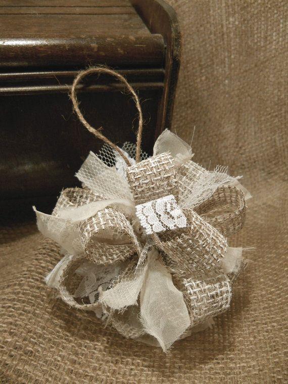 Burlap Christmas Ornament - Burlap Christmas Ornament HOLIDAY IDEAS Pinterest Christmas