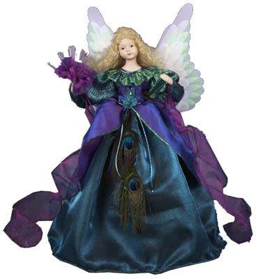 Purple Angel Tree Topper Details About Peacock Angel Fiber Optic