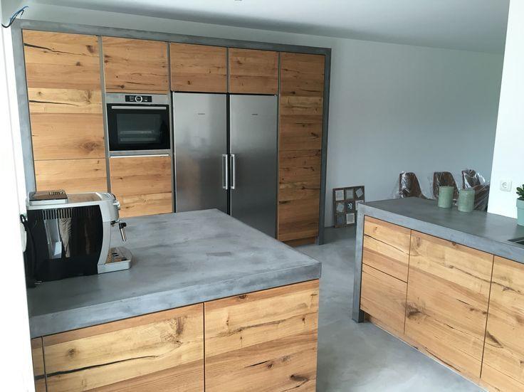 Die Kombination Von Holz Und Beton Wahnsinn Aber Aber Beton Die Einrichten Holz Kombination Und Von Wahn Kuche Beton Kuchendesign Wohnung Kuche