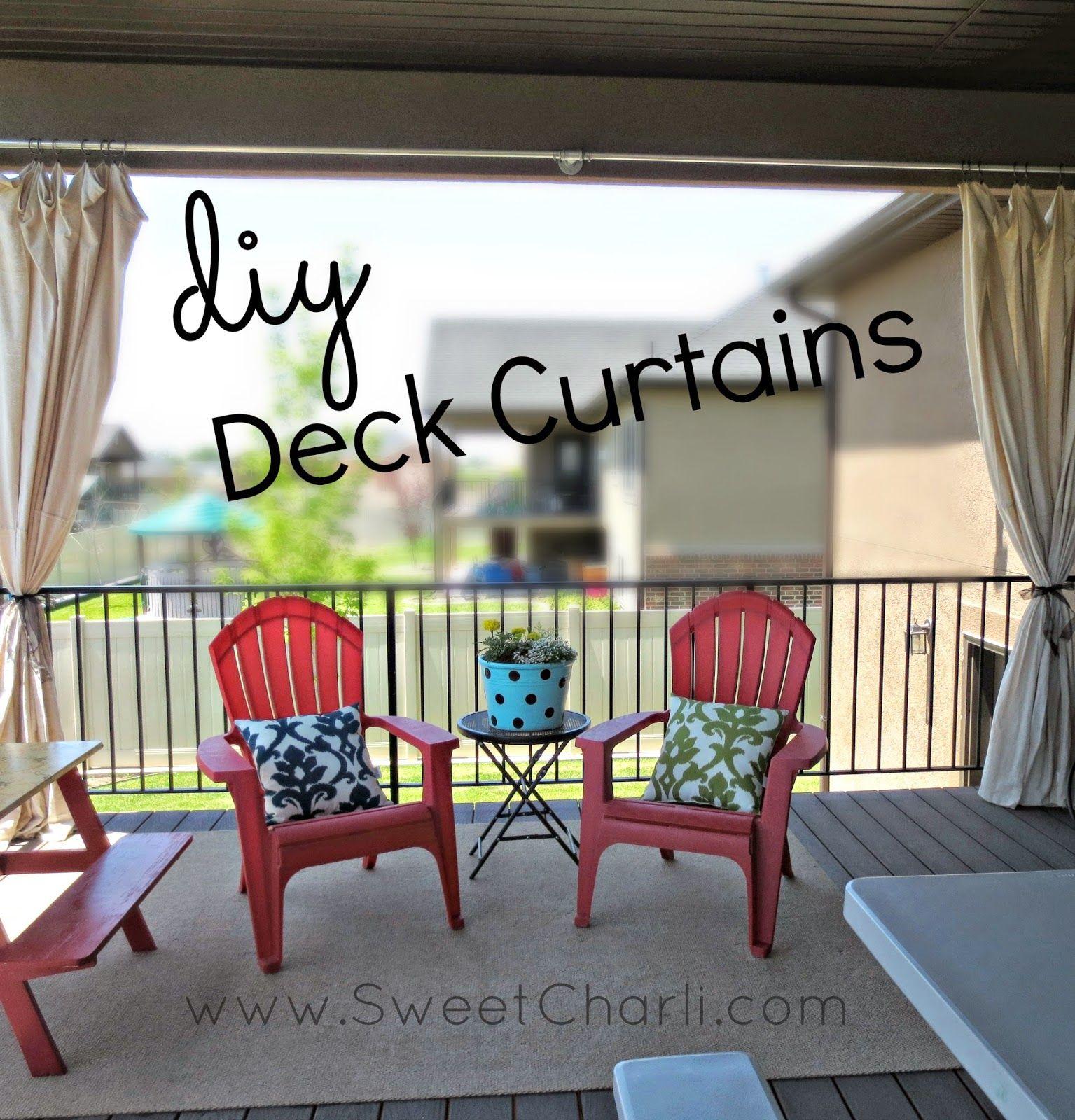 DIY Outdoor Deck Curtains