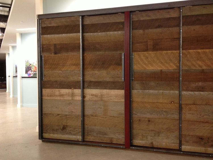 Superbe Barn Wood Wardrobe Closet, Freestanding At Forterra Offices. Built Of  Locally Sourced Reclaimed Lumber With Steel Accents.