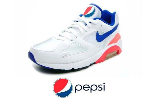 buy online af436 29c9d Pepsi sneakers - imagine all the drivers wearing these. )