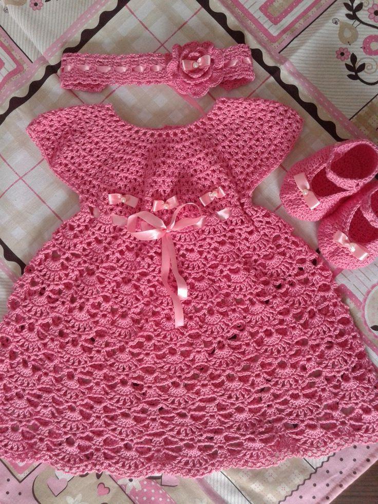 Vestidos Tejidos Para Niña Ropa De Chicos Crochet Baby