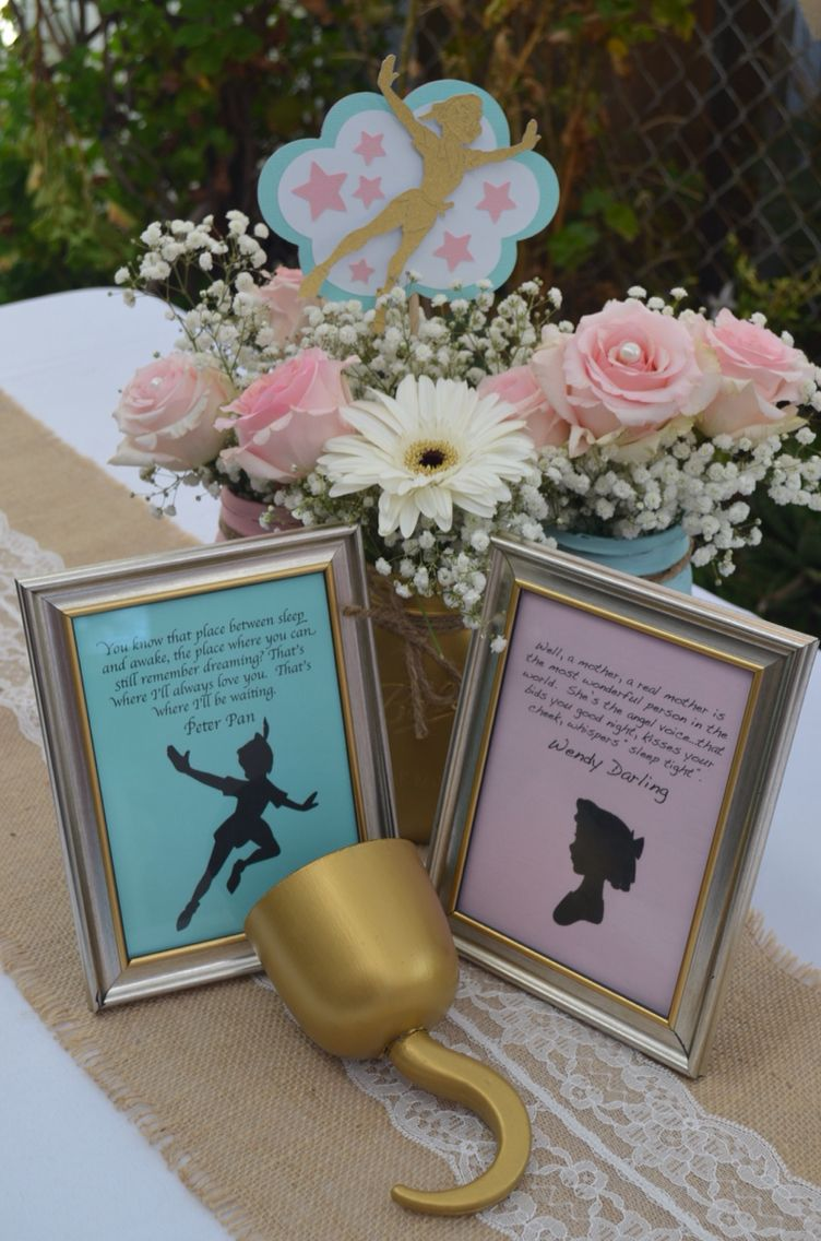 not necessarily peter pans but i like the flowers baby shower in 2019 pinterest fiestas. Black Bedroom Furniture Sets. Home Design Ideas