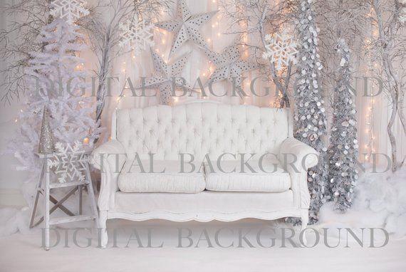 Instantánea DownloadBaby niño niño fotografía Prop fondo Digital para fotógrafos - Navidad invierno WONDERLAND sofá Digital telón de fondo #backdropsforphotographs