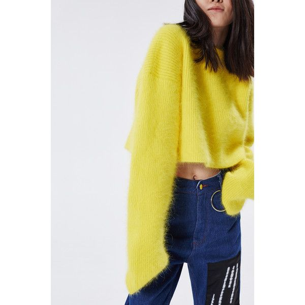 Hyein Seo sweater ($993) ❤ liked on Polyvore featuring tops, sweaters, yellow sweater e yellow top